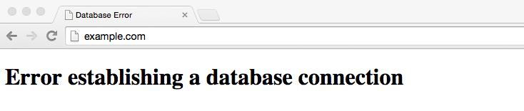 Error establecer conexion de base de datos