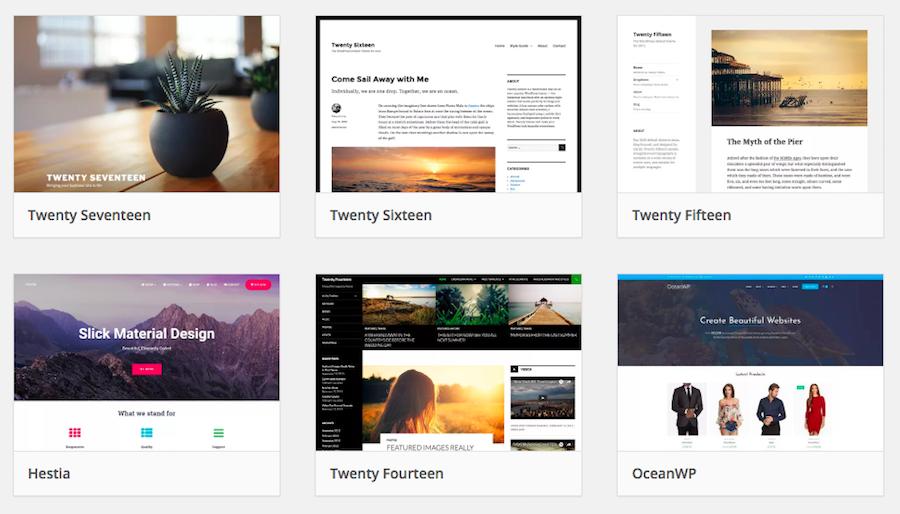 Ejemplos de Temas WordPress