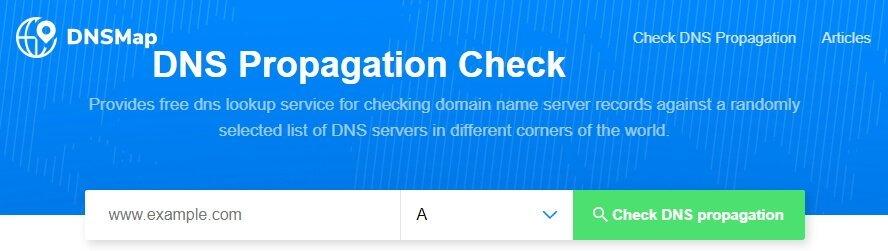 Pagina de Inicio de DNSMap