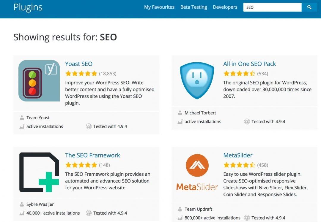 Plugins SEO de WordPress
